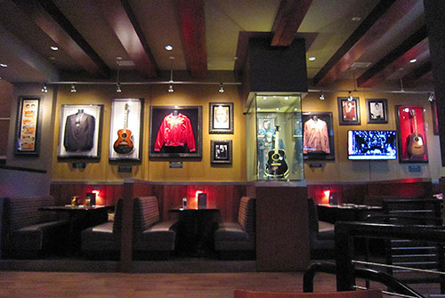 Hard Rock Cafe Four Winds Memorabilia Wall