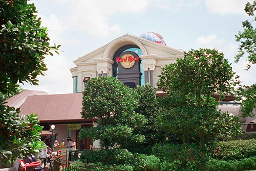 The upper level of the original Hard Rock Orlando